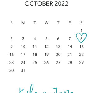 Colourful Save the Date