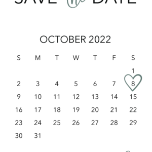 Leaf Save the Date